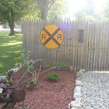 big railraod sign - Railroadiana