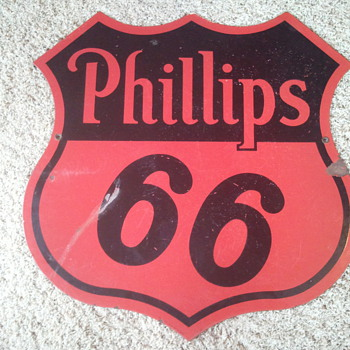 Phillips 66 porcelain sign - Signs