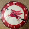"vintage 15"" Mobilgas clock"