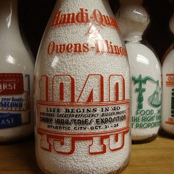 1940 ATLANTIC CITY DAIRY INDUSTRIES EXPOSITION OWENS -ILLINOIS MILK BOTTLE - Bottles