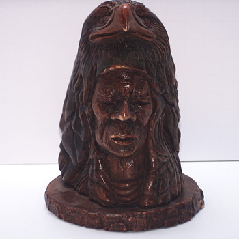 "Thomas B Maracle, Carving post 2 of 3 ""Bust""XX Century - Fine Art"