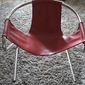 Mid - Century Tubular Red Leather Beauty - Mid-Century Modern
