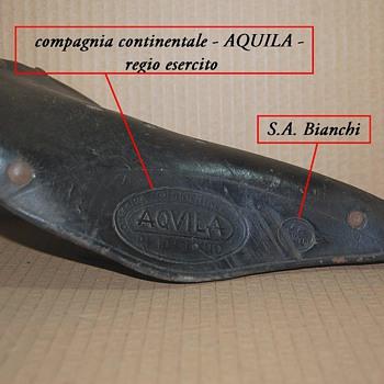 """original """"Bersagliere Bike"""" seddle from Bianchi"""