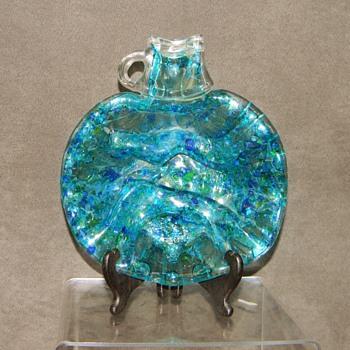 "1978? ""S.MARTINELLI & CO PATENTED REG."" Iridescent Glass Jug Dish HELP? - Art Glass"