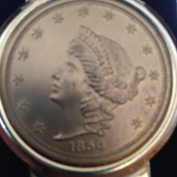 Gold Liberty Coin in Money Holder - Gold
