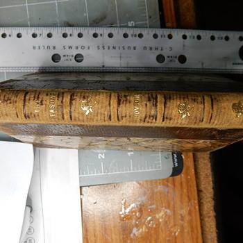 Book found in antique desk