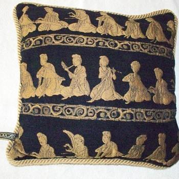 "Borgata Oriental Design Gold & Black Size 16""x 16"" - Rugs and Textiles"
