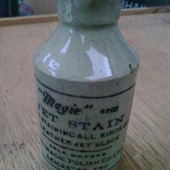 Leather dye bottle. - Bottles