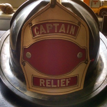 CAPTAINS CAIRNS & BROTHERS FIRE HELMET!!!! captain newsham 1940's!!!