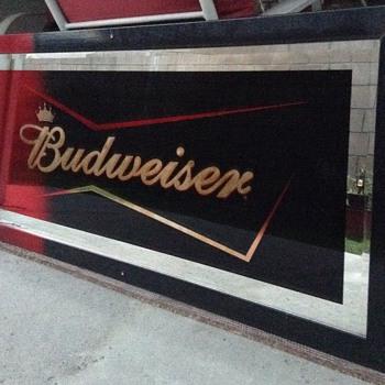 Budweiser Bowtie Limited Edition Back Bar Mirror