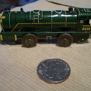 Tiny Tin Litho Clockwork Train