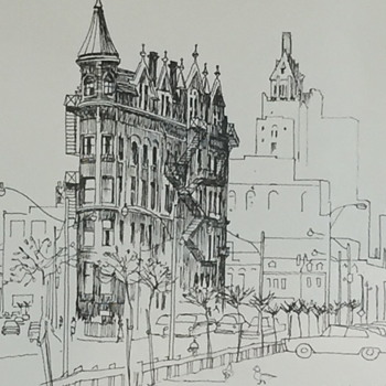 Pen and Ink drawing of downtown Toronto. - Fine Art