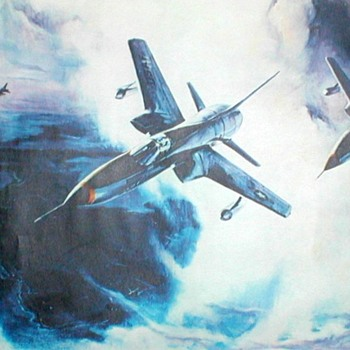 "U.S. Air Force Print Poster - ""F-105's Over Kadena AFB"""