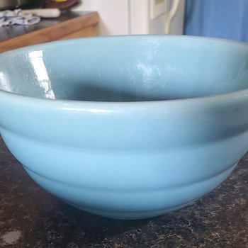 Mom's old mixing bowl that I still use for making whipped cream and icing. - Pottery