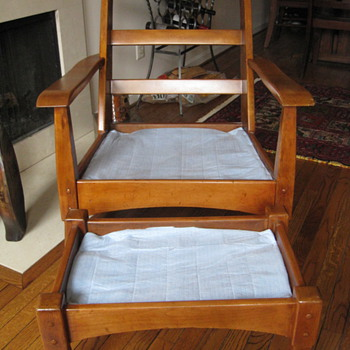 Unknown 1930's American craftsman armchair and ottoman