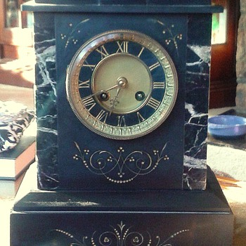 Belgian Slate Mantle Clock - Clocks