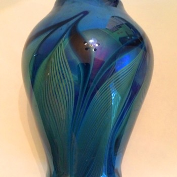 Early Feathered Vase by Randy Strong - Art Glass