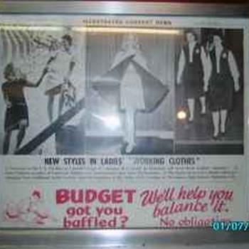 1960's Advertisement lighted Clock/Sign - Clocks