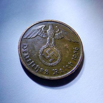 1936 Nazi 2 Reichspfennig - World Coins