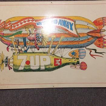 7up un un and away lithograph
