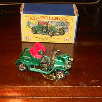 Matchbox Models of Yesteryear Y-2 1911 Renault 2 - Seater - Model Cars