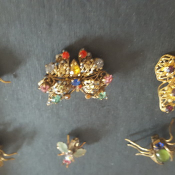 Cute vintage bug brooches  - Costume Jewelry