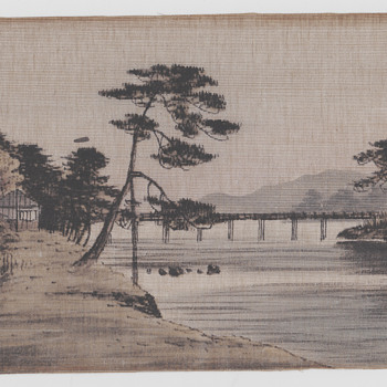 Chinese print on cloth 1870s - Asian