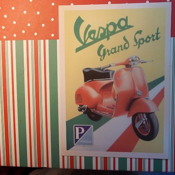 A Motor Scooter Ad. VESPA, GRAND SPORT, Piaggio. - Postcards