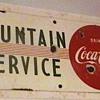 1950s Porcelain Coca-Cola Fountain Sign