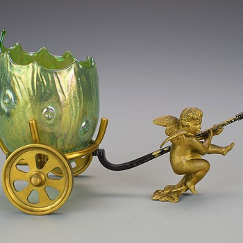 LOETZ CRETA SILBERIRIS RUSTICANA EGG VASE CIRCA 1899  - Art Glass