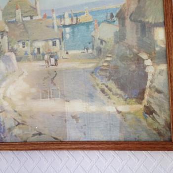 Cornish Harbour Newlyn Oil Painting Pre 1940 - Fine Art