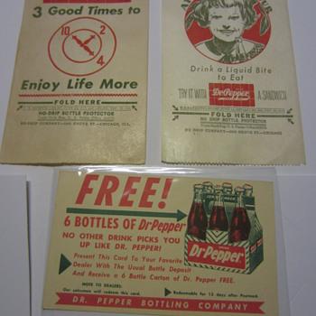 Dr Pepper Paper goods - Advertising