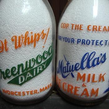 Two Color Cop The Cream Milk Bottles...... - Bottles