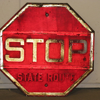 Stop - State Route  - Signs