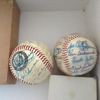 Detroit Tigers Balls autographed