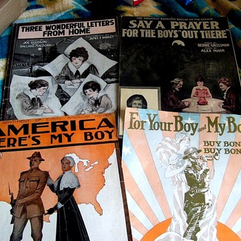 WW1= WHAT AMERICA DID TO HELP FROM THE HOMEFRONT --TOLD ON SHEET MUSIC - Music Memorabilia