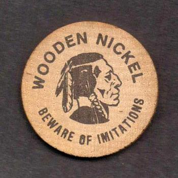Wooden Nickel - Natural Stone Bridge, N.Y. - Advertising