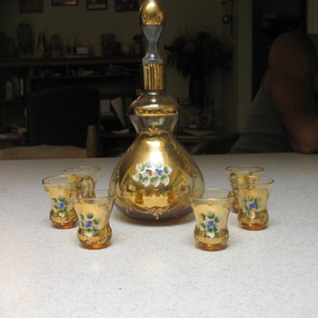 My Murano Third Fire Decanter/Liquor Set - Art Glass