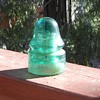 Brookfield Insulator Style 19 Signal CD 162 POine Green Color Late 1890s-1912