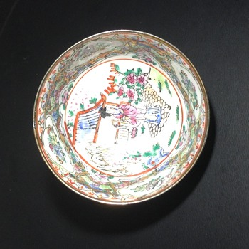 Miniture hand painted Chinese bowl - Asian