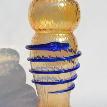 Snake on a vase - Czechoslovakia - Art Glass