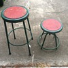 Set of 1950's garage stools
