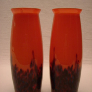 Czech Art Deco Vases - Art Glass