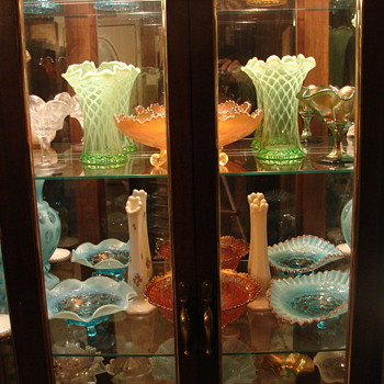display cased collections - Glassware