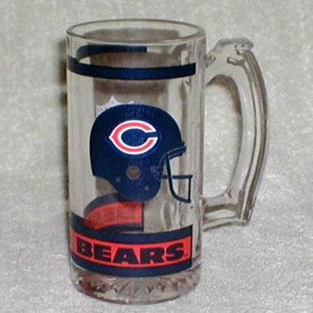 """Chicago Bears"" NFL Glass Mug - Football"