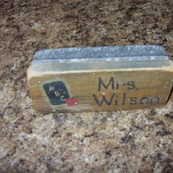 mrs. wilson chalkboard eraser