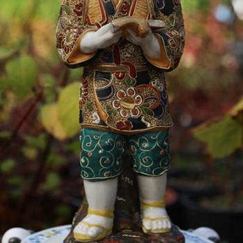 Ninomiya Sontoku - Agricultural Reformer - Satsuma Statue - Pottery