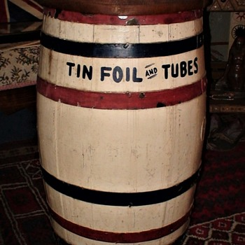 Tin Foil And Tubes Pharmacy Collection Barrel WWII - Military and Wartime