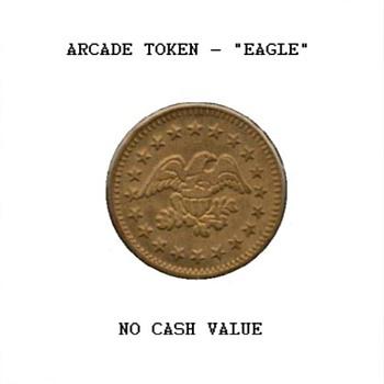 Arcade Token - Eagle & Stars - US Coins