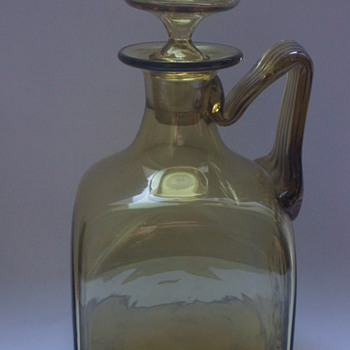 Khaki Claret Jug - Art Glass